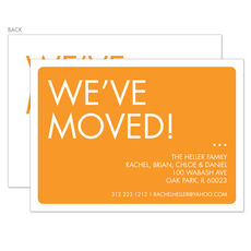 Orange We've Moved Moving Announcements