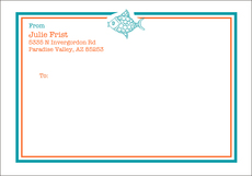 Exotic Fish Large Mailing Labels