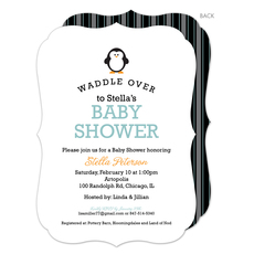 Lagoon Penguin Waddle Over Shower Invitations