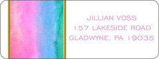 Pastel Watercolor Return Address Labels