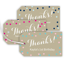 Confetti Horizontal Thank You Hanging Gift Tags