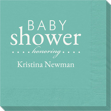 Baby Shower Honoring Napkins