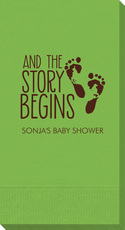And The Story Begins with Baby Feet Guest Towels
