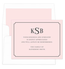 Pink Double Frame Sympathy Cards