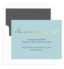 Slate with Gold Foil In Memory Of Sympathy Cards