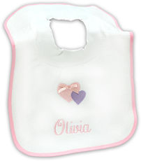 Baby's Bib with Heart Design
