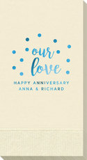 Confetti Dots Our Love Guest Towels