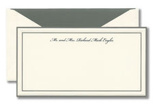 Gray Multi Bordered Monarch Correspondence Cards