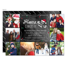 Chalkboard Holiday New Home Photo Announcements