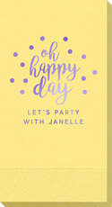 Confetti Dots Oh Happy Day Guest Towels