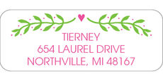 Hanging Over Wreath Address Labels