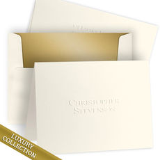 Luxury Embossed Christopher Note Card Collection