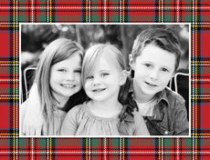 Tartan Plaid Foldover Photo Cards