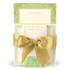 Green and Gold Notepad Set