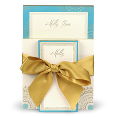 Turquoise and Gold Notepad Set