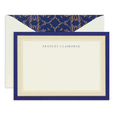 Navy and Gold Flat Correspondence Cards