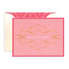 Pink and Gold Folded Note Cards