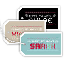 Stitching Holiday Hanging Gift Tags