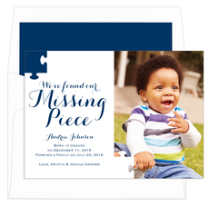 Navy Missing Piece Photo Adoption Announcements