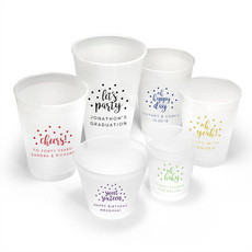 Personalized Confetti Dot Frosted Cups