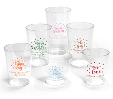 Personalized Confetti Dot Clear Plastic Cups