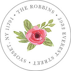 Garden Greetings Round Address Labels
