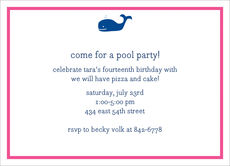 Whale Navy Invitations