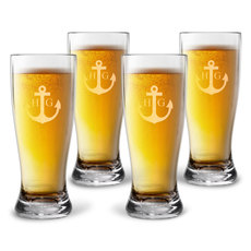 Personalized Tritan Acrylic Pilsner Set - Anchor + Initials