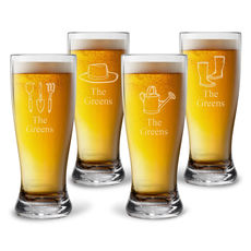 Personalized Tritan Acrylic Pilsner Set - Spring Collection
