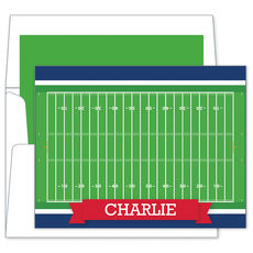 Football Field Folded Note Cards