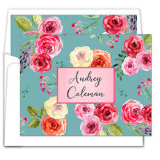 Sea Rose Folded Note Cards