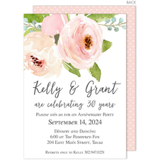 Pink Roses Invitations