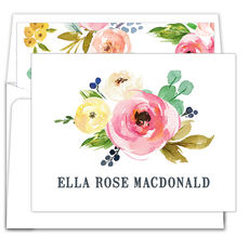 Rose Bunch Folded Note Cards