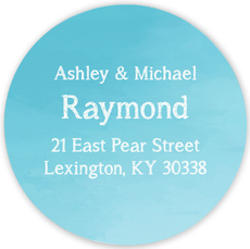 Blue Ombre Round Address Labels
