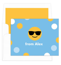 Colorful Sunglasses Emoji Dots Folded Note Cards