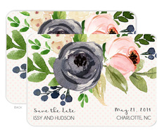 Gray and Ivory Rose Bunch Save The Date Announcements