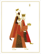 Embossed Three Kings Holiday Cards