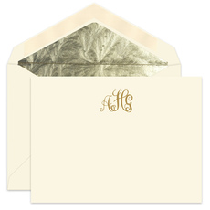 Crowned Monogram Flat  Note Cards