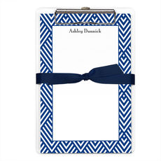Navy Geometric Border Notepads with Clipboard