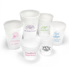 Personalized Shatterproof Reusable Cups for Bridal Showers