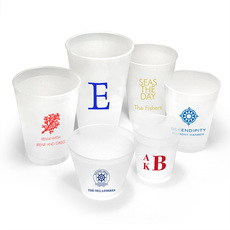 Personalized Frosted Cups for Nautical Theme