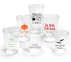 Design Your Own Halloween Clear Plastic Cups