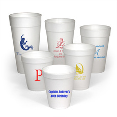 Personalized Styrofoam Party Cups for Nautical Theme