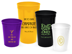 Personalized Stadium Cups for New Year's Eve