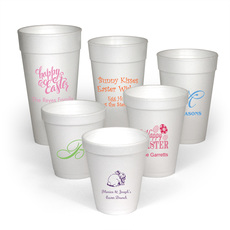 Personalized Foam Party Cups for Easter