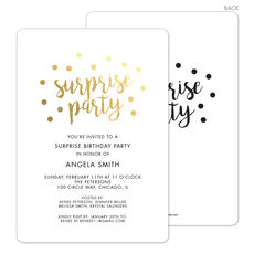 surprise party invitations the stationery studio