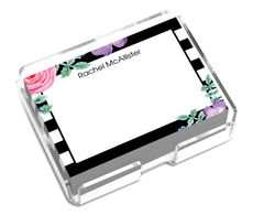 Black Vintage Flower Post-it® Notes