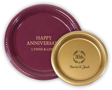 Personalized Plastic Plates for Anniversaries