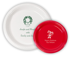 Personalized Plastic Plates for Christmas