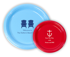 Personalized Plastic Plates for Nautical Theme